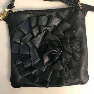 🌹 Black rose crossbody bag, adjustible
